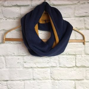 Girly Accessories - NWT! Knit Infinity Scarf Navy Blue/Gold